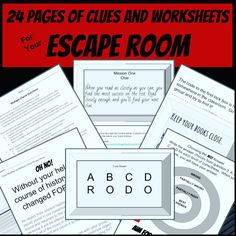Today my students participated in our first-ever escape room. It. was. amazing. I think it's always a good sign when students are on their feet readi