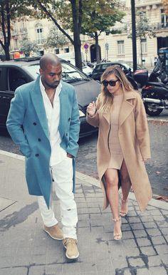 Kanye West and Kim Kardashian, Paris [September 2013] #kimye