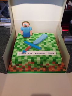 Minecraft cake. What about this for Ethan's bday?