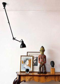 Suspension N°302 / Bras téléscopique Rouge satiné (mat) / Noir mat - DCW éditions - Lampes Gras - Décoration et mobilier design avec Made in Design