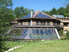 Sirius Community, small ecocillage in Massachusetts, timberframe greenhouse built onto the community center   | Sustainability Education Blog