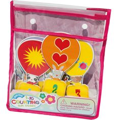Counting can now be fun for your kids with these counting 1-10 bath stickers.