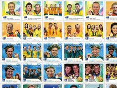 In Australia Post produced instant gold medallist stamps for the Sydney 2000 Summer Olympic Games. This was not only a first for Australia, but also globally. Summer Dream, Rio 2016, Summer Winter, Summer Olympics, One Team, Olympic Games, Hunters, First World, Postage Stamps