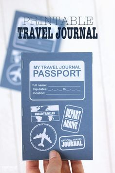 Download this printable travel journal to use for all your summer travels!