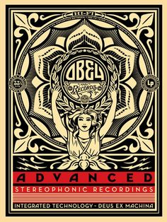 SHEPARD FAIREY - LOTUS WOMAN | Limited Edition Art Print