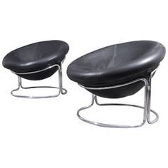 Pair of Rarely Ballchairs Designed by Harvey Guzzini, Italy, 1970 | From a unique collection of antique and modern lounge chairs at https://www.1stdibs.com/furniture/seating/lounge-chairs/