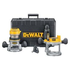 DEWALT 1-3/4 HP Fixed Base / Plunge Router Combo Kit-DW616PK - The Home Depot
