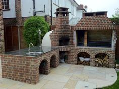 Outdoor-Fireplace-Kits-With-Pizza-Oven1.jpg (1024×765)