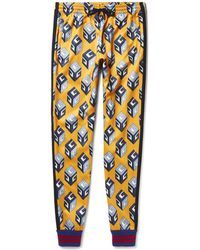 b276dcb2949677 Gucci - Tapered Printed Satin-jersey Sweatpants - Lyst Mens Activewear