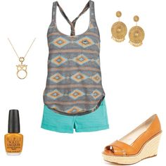 Tribal Summer Outfit, created by roseylove28 on Polyvore