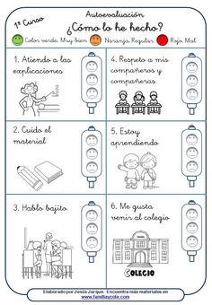 Material para la autoevaluación del alumnado para descargar e imprimir. Para Educación Primaria y Secundaria. Para que evalúen sus hábitos de estudio.