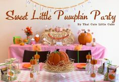 Sweet Little Pumpkin Party | CatchMyParty.com