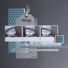 Scrapbook photo layout ideas: polaroids