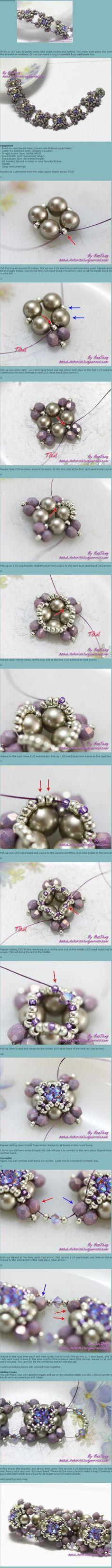 串珠手链。...来自enrhedando的图片分享-堆糖
