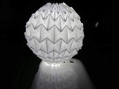 Protótipo de luminária feito por Marcelo Taba