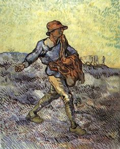 Vincent van Gogh - The Sower (after Millet) October 1889, Saint-Rémy Oil on canvas, 81 x 66 cm Private collection