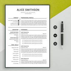 Resume template Professional resume template instant image 0 Creative Cv Template, Teacher Resume Template, Flyer Template, Cv Tips, One Page Resume, Change Image, Job, Professional Resume, First Page