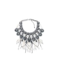 Zara - fringe and chain necklace Seashell Jewelry, Seashell Necklace, Crystal Necklace, Choker Necklaces, Necklace Chain, Fringe Necklace, Chain Jewelry, Colar Fashion, Fashion Necklace