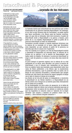 """La leyenda de los Volcanes de México ...Iztaccíhuatl y Popocatépetl & Poema """"El Idilio de los Volcanes"""" de José Santos Chocano"""