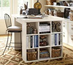 19 ideas diy desk organization for teens girl rooms pottery barn Craft Room Desk, Diy Desk, Cube Shelves, Cube Storage, Paper Storage, Office Storage, Cubes, Project Table, Ikea