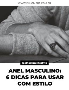 anel, anel masculino, acessórios, estilo, moda, moda masculina Rings For Men, Wedding Rings, Engagement Rings, How To Wear Rings, Two Hands, Mens Pinky Ring, Moda Masculina, Style, Enagement Rings