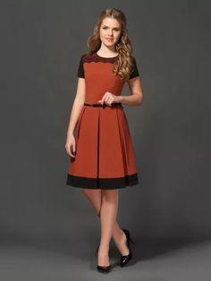 комбинированное платье: 21 тыс изображений найдено в Яндекс.Картинках Glamorous Dresses, Trendy Dresses, Cute Dresses, Beautiful Dresses, Fashion Dresses, Short Sleeve Dresses, Dresses For Work, Fashion 2020, Look Fashion