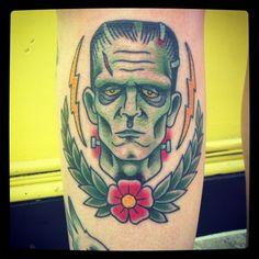 bride of Frankenstein pin up tattoo