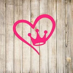 This item is unavailable Princess Crown Tattoos, Queen Crown Tattoo, Small Crown Tattoo, Queen Of Hearts Tattoo, Crown Tattoo Design, Princess Tattoo, Jeep Decals, Vinyl Decals, Tattoos To Cover Scars