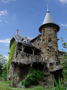 Foto della casa delle streghe costruita in Francia