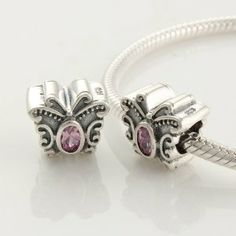 "925 Sterling Silver ""Butterfly with Pink CZ Czech Crystal October Birthstone"" Charms/beads for Pandora, Biagi, Chamilia, Troll and More Bracelet general gifts. $18.99. Hole Size: 4.5mm. Quantity: 1pc. Color: antique silver (oxidized) pink CZ Crystal. Suitable for 3mm Cable Pandora and other European Charm Bracelets. Materials: 925 Sterling Silver (Stamped) and CZ"