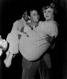 Tony Curtis and Jack Lemmon during the filming of Some Like It Hot (1959)