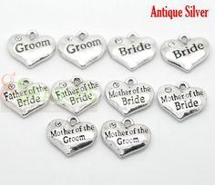 Wedding Theme Heart Pendants --- All for Wedding