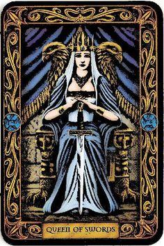 The Queen of Swords may represent a widow.