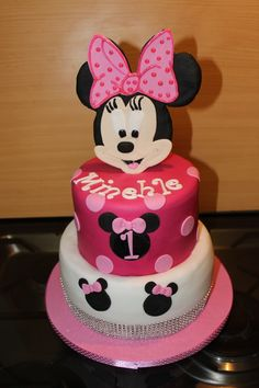 Unforgettable Cakes - Minnie mouse bling birthday cake