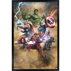 Marvel Avengers, Ms Marvel, Disney Marvel, Marvel Comics Art, Avengers Poster, Poster Xxl, Comic Art, Comic Books, Baby Avengers
