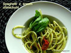 Spaghetti z sosem chimichurri