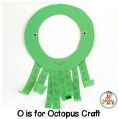 Show your love of the letter O and the ocean with this fun O is for octopus letter craft! It's a fun alphabet activity for kindergarten and preschool! Preschool Letter Crafts, Alphabet Letter Crafts, Abc Crafts, Preschool Themes, Kindergarten Activities, Letter Tracing, Animal Alphabet, Letters For Kids, Alphabet For Kids