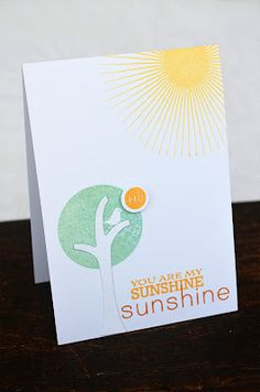 You Are My Sunshine Card by Jess Witty for Papertrey Ink (April 2012)