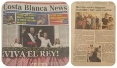 Hemos salido en el periódico Ingles 'Costa Blanca News'  We're in the 'Costa Blanca News'