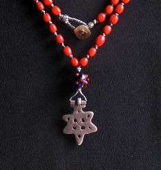 Old Silver Cross Ethiopia by LynsUnusualBeads on Etsy