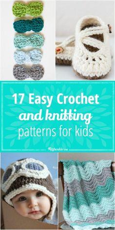 17 Easy Crochet and knitting Patterns for kids via @TipJunkie