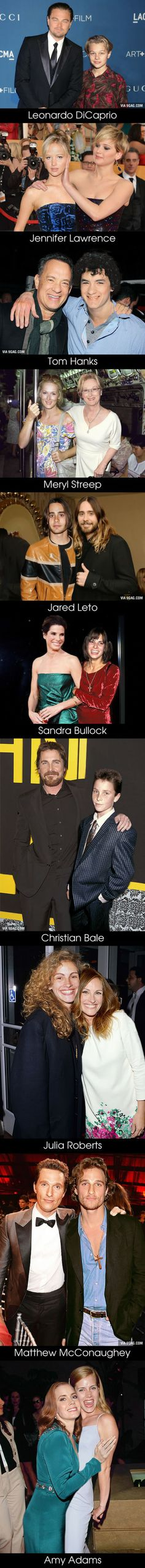 10 Oscar Nominees Posing with Their Younger Selves