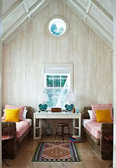 Bleached wood walls