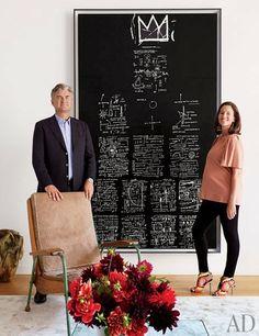 art dealer Christophe Van de Weghe and his wife, Anne-Gaëlle..