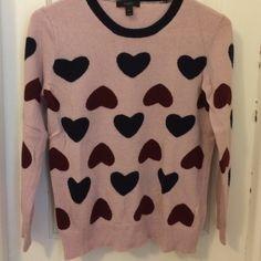 J Crew heart sweater Used a few times J. Crew Sweaters