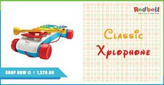 Shop for Fisher Price Classic Xylophone at Redbell.com Shop Now #Xylophone #Shopping #Kidstore #toystore