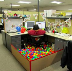 Funny Pictures About Birthday Office Decoration Oh And Cool Pics Also