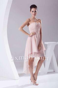 Asymmetrical Wedding Guest Dresses Sweetheart Tea Length Chiffon picture shown 130010800033