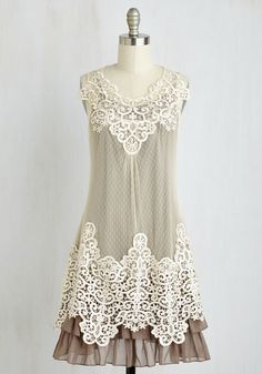 Grace Gardens Dress in Slate Grey   Mod Retro Vintage Dresses   ModCloth.com