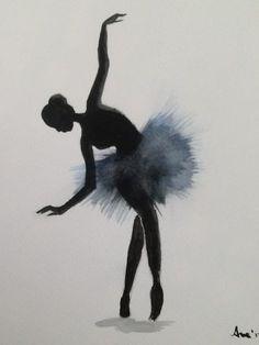 pintarviviramar: Bailarina 4 - Elektra Z. Ballet Painting, Dance Paintings, Ballet Art, Ballet Dancers, Painting & Drawing, Shadow Drawing, Ballet Drawings, Dancing Drawings, Art Drawings